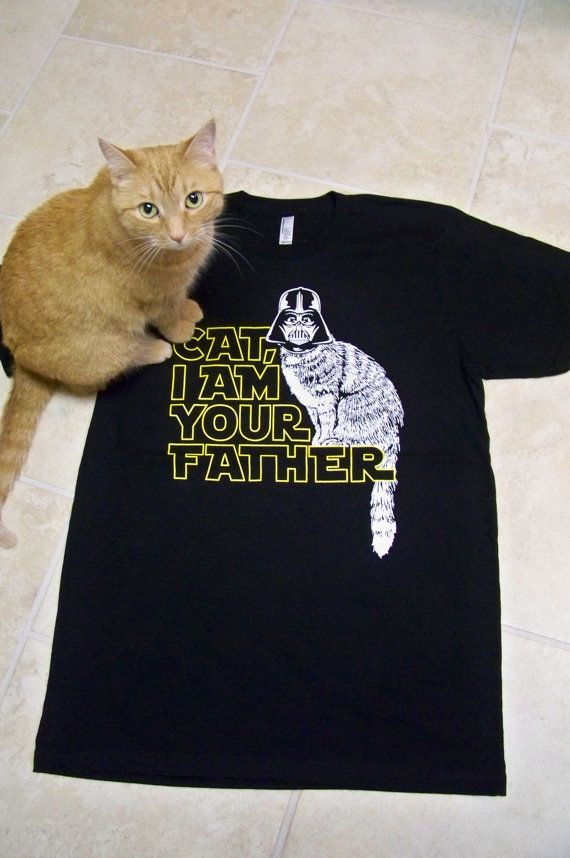 Cat shirt, Cat Dad, Star Wars, I Am Your Father t shirt, graphic tees, Mens tshirts, cat lover gift mens, funny dad gift, boyfriend gift