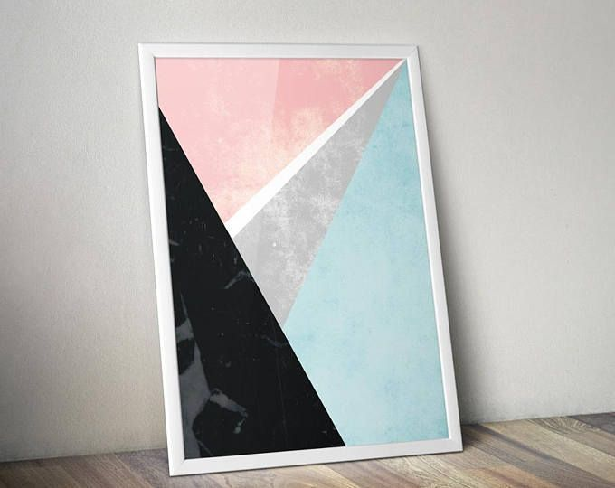 Time to decorate! - Illustrated Art Print by Genesis Alvarez of Gabellare.  Geometric Print | Abstract Landscape Prints | Poster | Abstract Prints | Landscape Prints | Posters and Prints | Poster Art Prints