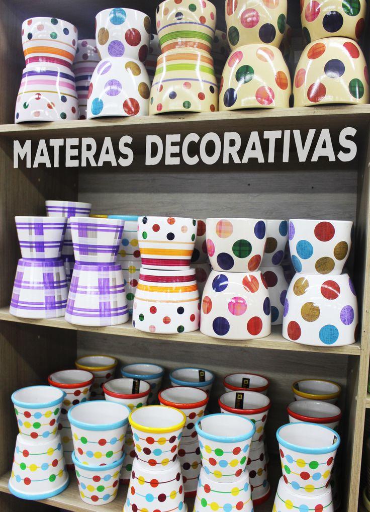 Materas en cerámica decorativas