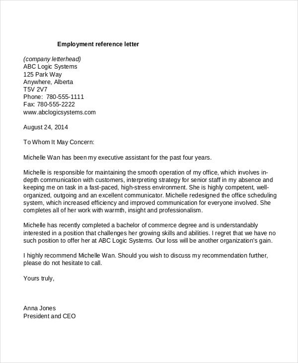 10 Employment Reference Letter Templates Free Sample ... on reference letter forms free, reference letter examples free, writing recommendation letter templates free, reference letter format, invitation letter templates free, termination letter templates free, reference letter samples, reference letter examples for scholarships, character letter templates free, letter of recommendation templates free, birthday letter templates free, word letter templates free, request letter templates free,
