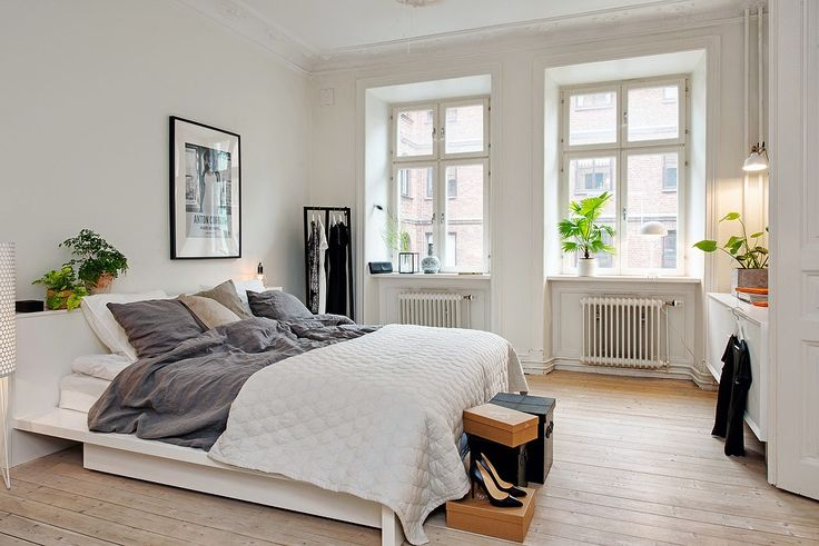 scandinavian bedroom minimalist
