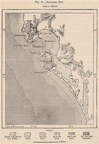 Amazon.com - Saldanha Bay. South Africa. Cape Colony, 1885 antique map -