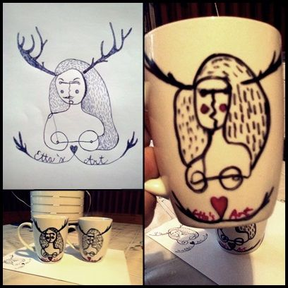etta's art on a coffe mug ;)