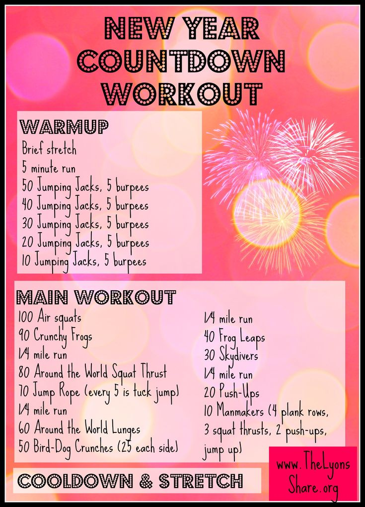 An effective, heart-pumping interval workout to get your New Year started right! Try this New Year Countdown Workout from The Lyons' Share!