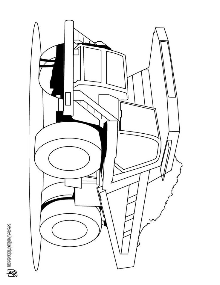 heavy dump truck coloring page