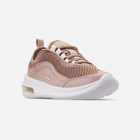 84cccee52e Three Quarter view of Women's Nike Air Max Estrea Casual Shoes in Particle  Beige/Metallic Red Bronze