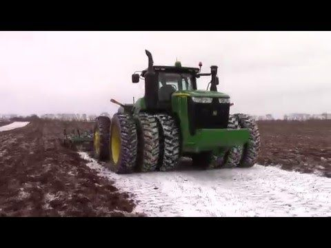 Awesome Big Tractor Power At Work:  2016 Chisel Plowing in the Snow