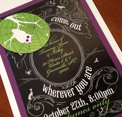 Halloween invitations by Izzy Designs