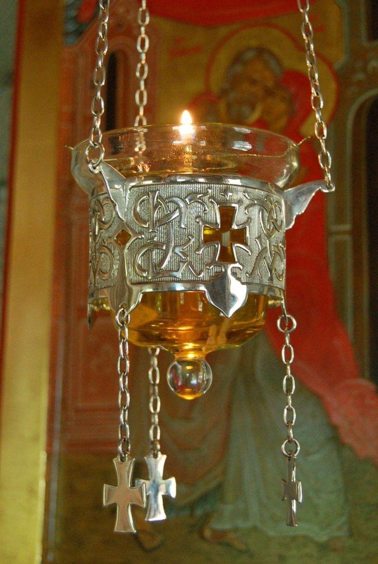 Details about Sterling Silver Vigil Lamp, Russian Greek ...