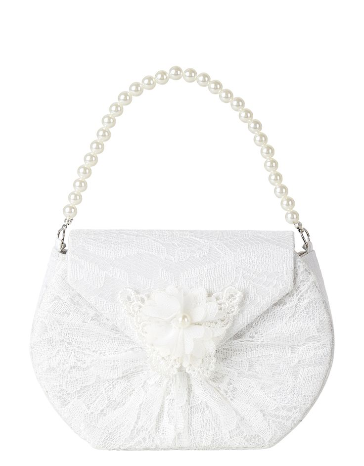 Lacey Butterfly Pearl Handle Bag