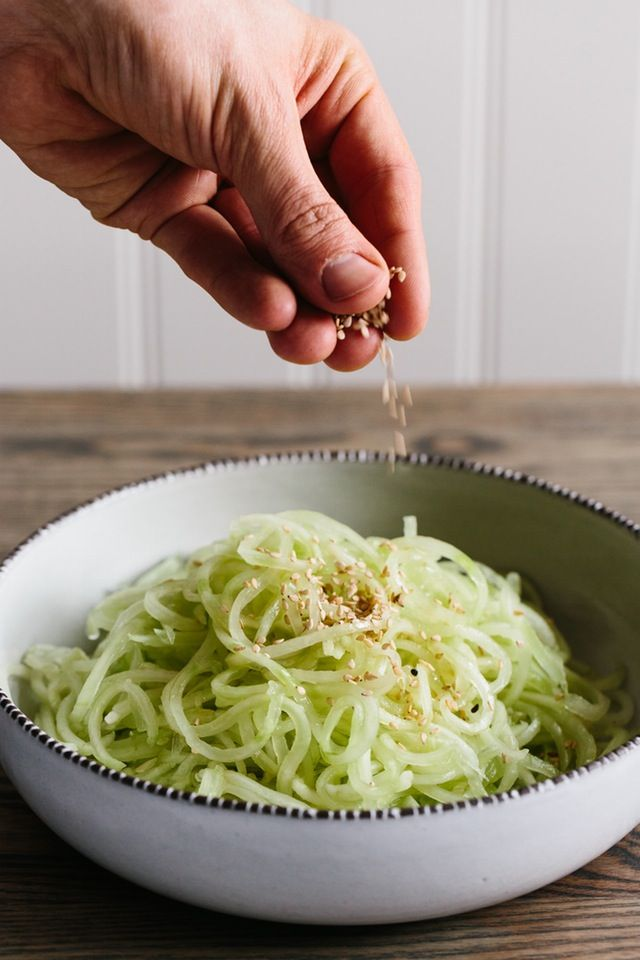 Recipe: Chilled Cucumber Noodles with Sesame Dressing — Recipes from The Kitchn | The Kitchn