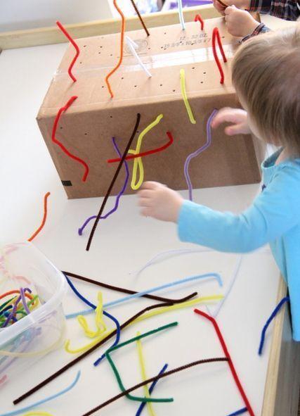 Bir çocuk geliştirin: tuvalet kağıdı el sanatlarından
