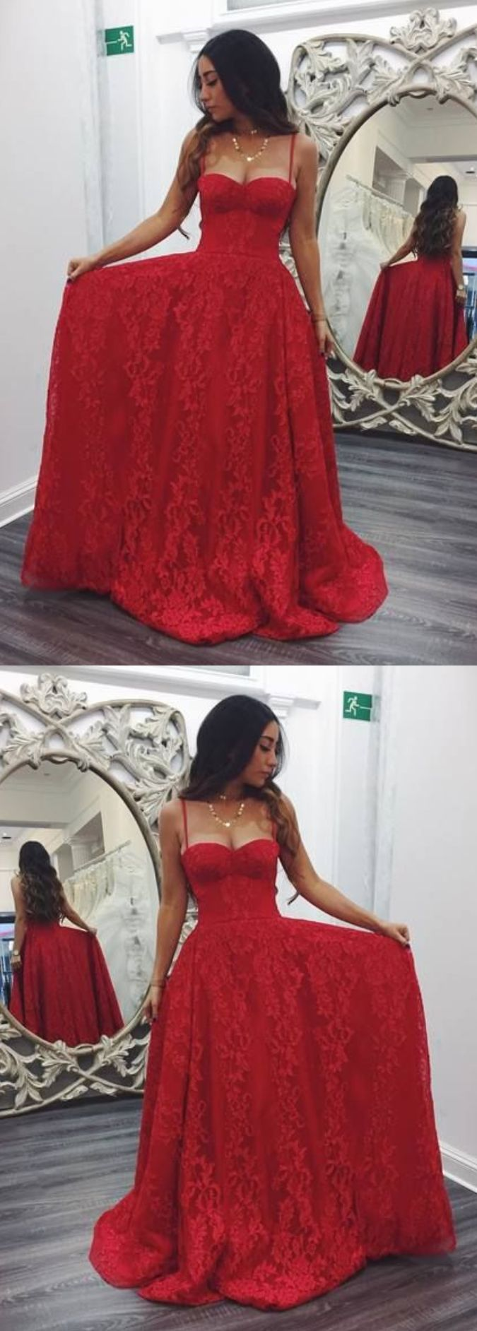 Sexy A-Line Spaghetti Straps Prom Dresses,Long Prom Dresses,Green Prom Dresses, Evening Dress Prom Gowns, Formal Women Dress,Prom Dress