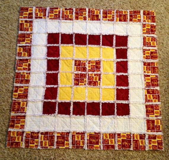 Iowa State University Cyclone Rag Quilt or Baby Quilt 40