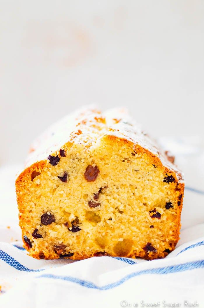 Rum Raisin Pound Cake:  A simple pound cake laced with boozy raisins makes the best tea time treat!