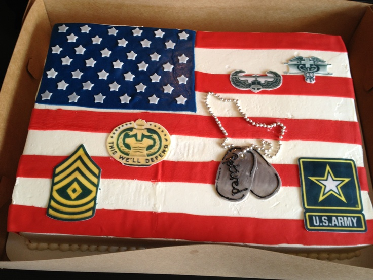Army Retirement Cake Images : Army retirement cake (military retirement cake) Army ...