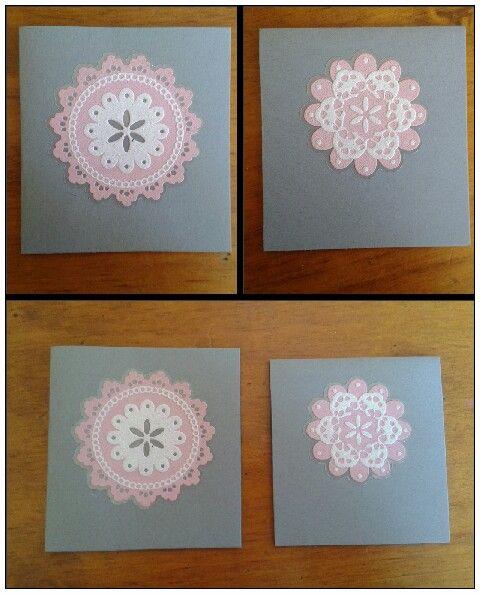 Pink snowflake card