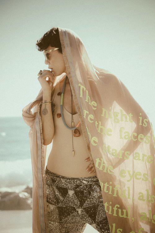 KINGDOM Indian Summer: Photography: Justin Badenhorst Muse: Inge Beckmann Makeup: Natasha Papadopoulos Styling: Chloe Williams