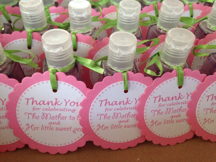 baby girl shower favorssweet pea sanitizers from works tags ordered from etsy