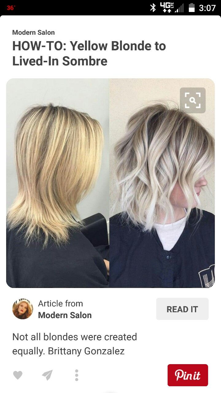 Blonde Vs Platinum Sombre Hair Yellow Blonde Hair