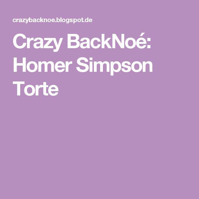 Crazy BackNoé: Homer Simpson Torte