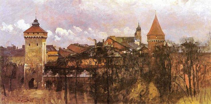 Julian Fałat - Widok Krakowa, 1898