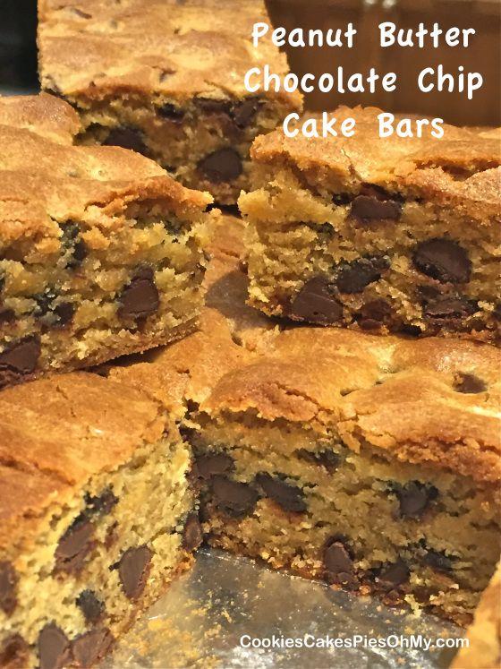Peanut Butter Chocolate Chip Cake Bars