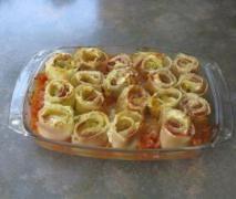 Lasagne-Röllchen mit Frischkäse-Füllung