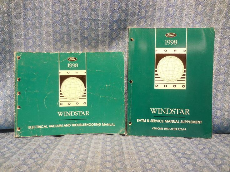 1998 Ford Windstar Original OEM Electrical Vacuum & Troubleshooting Manual 2 Vol #Ford
