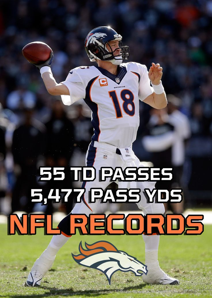 Peyton Manning finishes the season holding BOTH records.At 37. After 4 neck surgeries.SHERIFF.