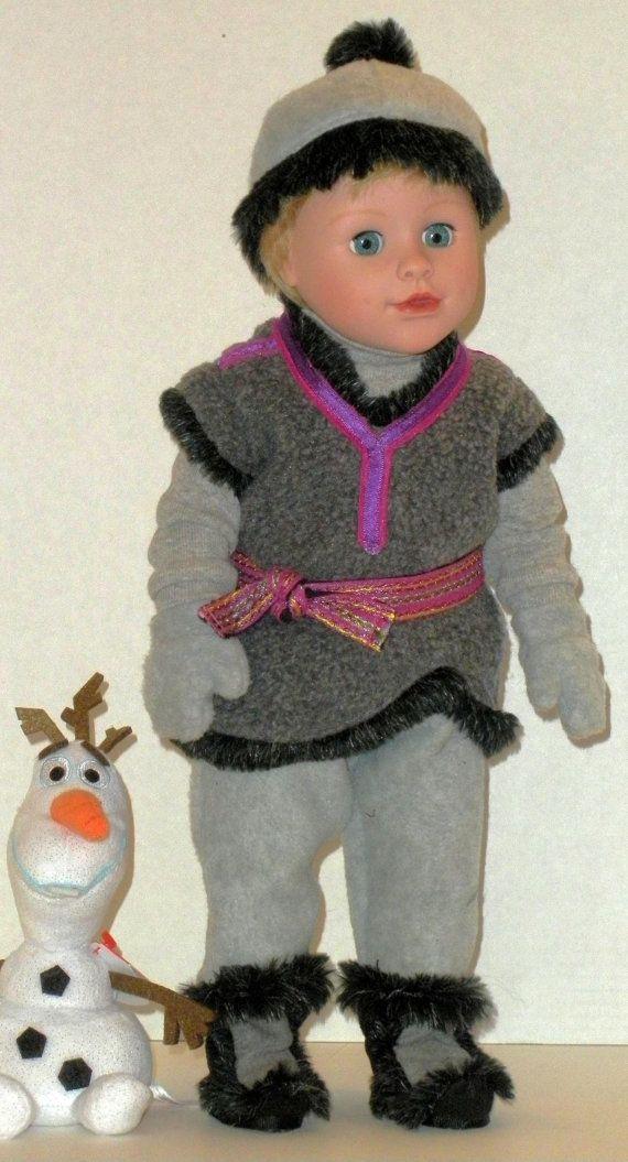 """OOAK Kristoff Costume pour poupées 18"""""""