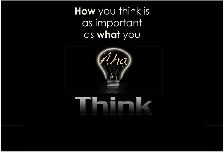 Aha Moments Sayings: It's About The AHA Moment That Demonstrates How You Think
