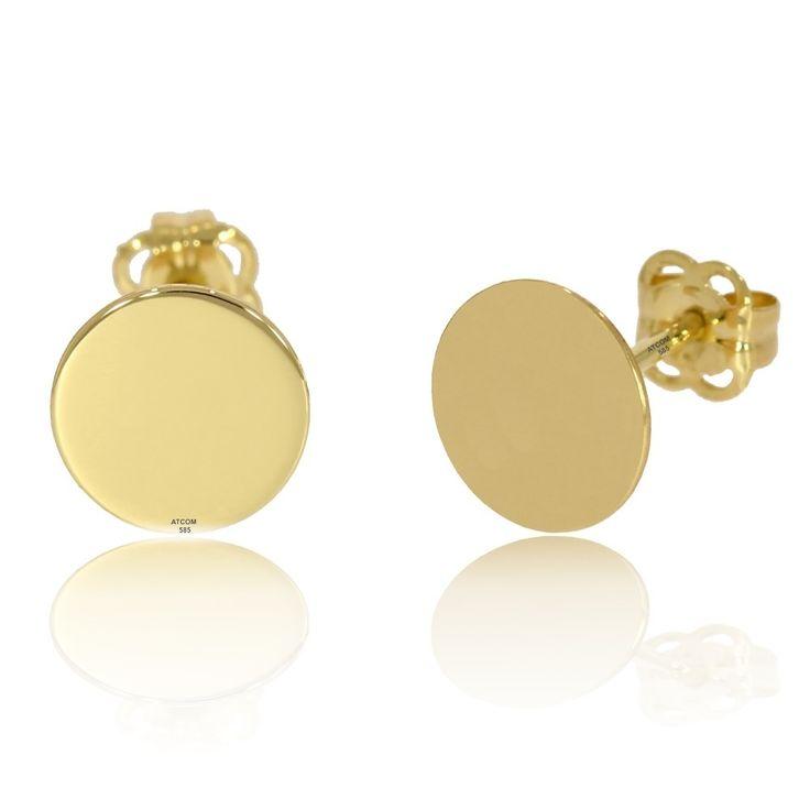 Cercei banuti personalizati aur galben   Cerceii pot fi creati si din aur roz sau alb.