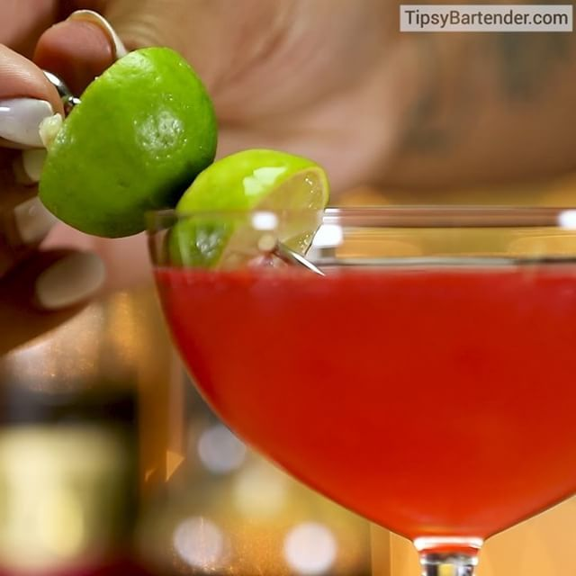 TIANA'S KEY LIME PLUM (Created by: @tianasaurus_wr3cks) 1 oz. (30ml) White Rum 1 ½ oz. (45ml) Black Ginger Raspberry Simple Syrup 2 oz. (60ml) Grape Plum Wine 2 dashes Vanilla Bitters Juice of half a Key Lime Garnish: Key Lime Skewer PREPARATION 1. Combine rum, black ginger simple syrup, grape plum wine, vanilla bitters and key lime juice in a shaker with ice and shake well. 2. Strain mix into a coupe glass and garnish with a key lime skewer. DRINK RESPONSIBLY!