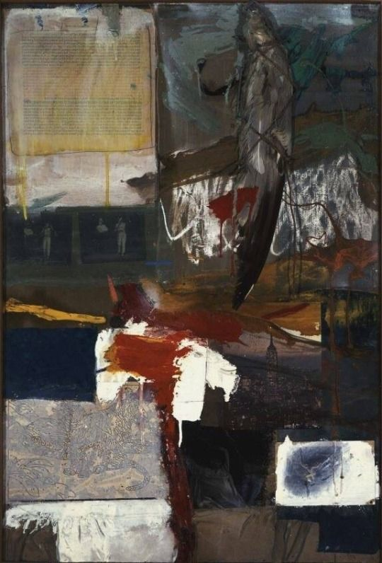 Robert Rauschenberg Painting with Grey Wing, 1959