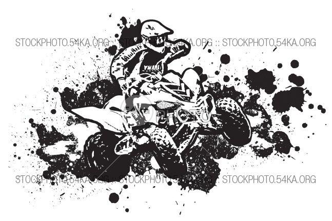 vector graphics atv 4 u00d74 white wheel vehicle vector