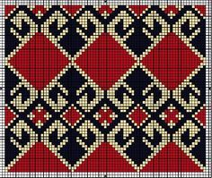 Multi functional craft pattern use for: cross stitch chart or cross stitch pattern, crochet pattern, knitting, knotting pattern, beading pattern, weaving and tapestry design, pixel art, micro macrame, friendship bracelets, and other crafting projects.