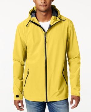 32 Degrees Men's Storm Tech Hooded Rain Jacket - Yellow XXL