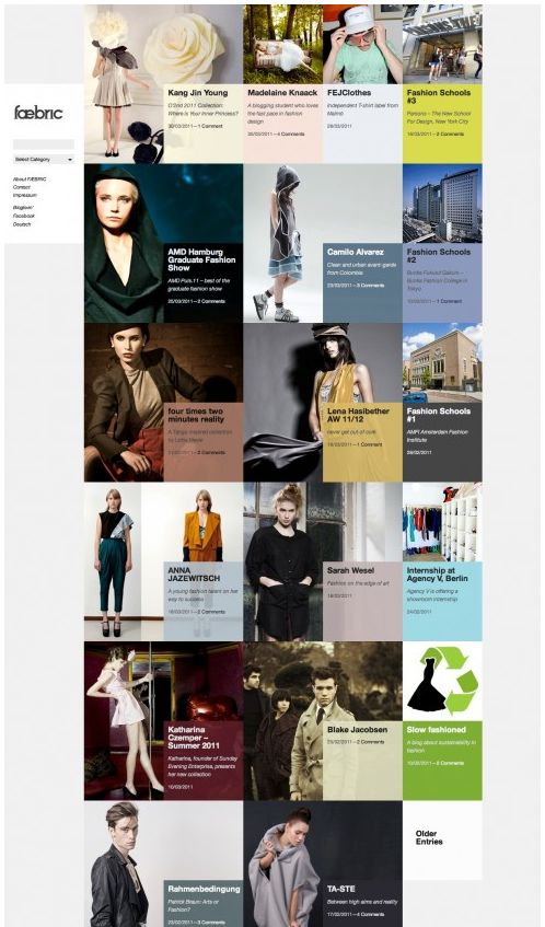 Interesting way of displaying lots of images of people with their info.  Click for more great Web Design layouts