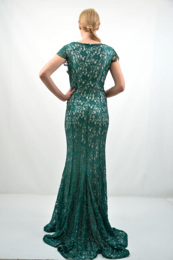Φόρεμα μακρύ, κοντό μανίκι