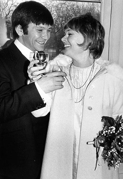 Michael Williams and Judi Dench Williams, on their wedding day!