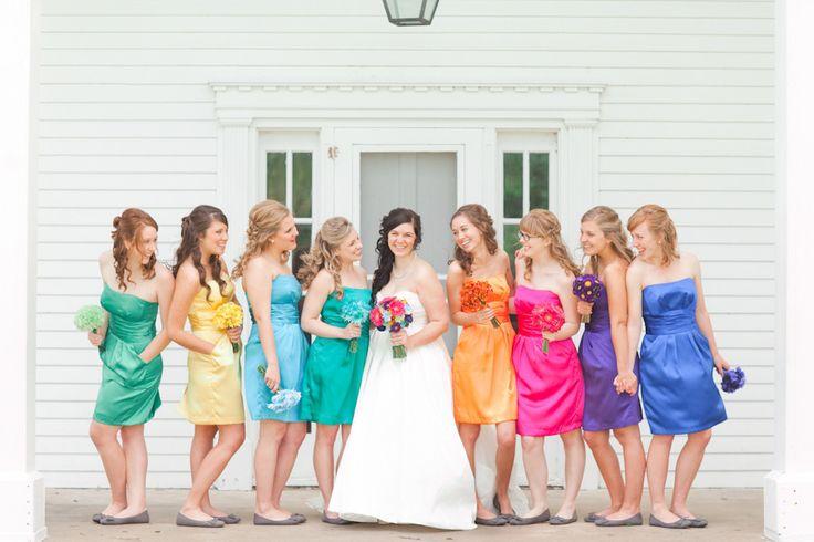 Missouri Rainbow Wedding from Jordan Brittley Photography  Read more - http://www.stylemepretty.com/2013/10/25/missouri-rainbow-wedding-from-jordan-brittley-photography/
