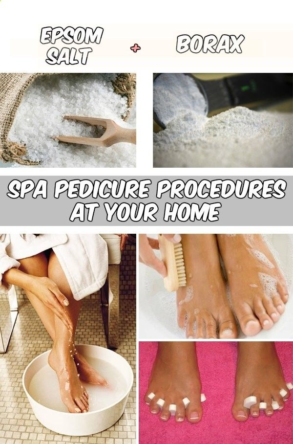 Spa pedicure procedures at your home