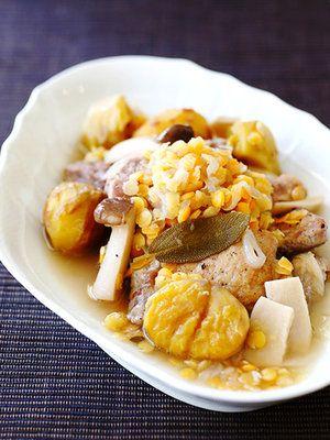 【ELLE a table】栗と豚肉とレンズ豆の煮込みレシピ|エル・オンライン