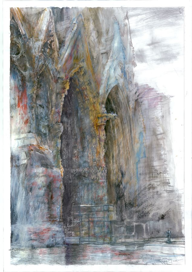 filip kurzewski; mixed technique on paper; 70x100cm / 27,5x39inch
