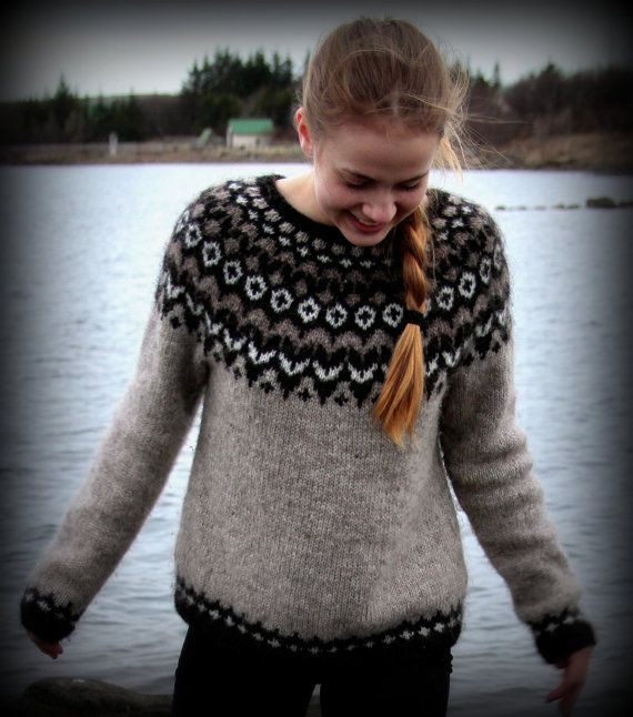 Icelandic Sweater Lopapeysa Handmade 100  pure Wool by aggaphoto, $165.00