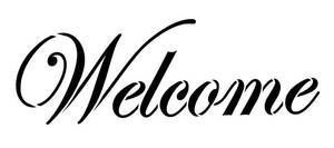 graphic relating to Welcome Sign Templates called Welcome Stencil Printable Phrase Stencil - Welcome