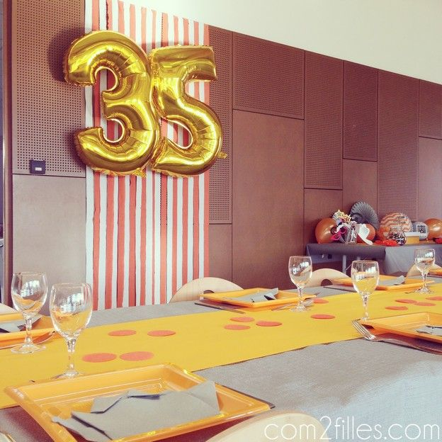 25 best ideas about anniversaire 35 ans on pinterest 60 for Decoration 25 ans