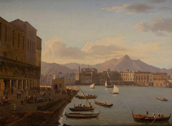Antonio Marinoni (1796-1881) - Barche da pesca a Palermo