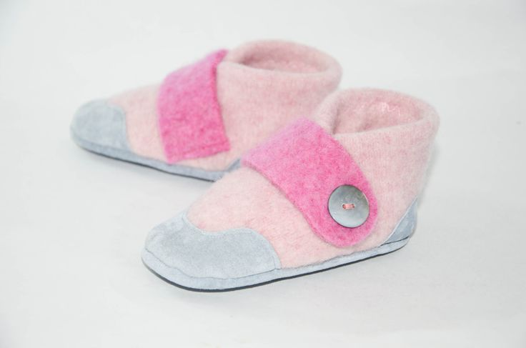 Wool Baby Shoes, Toddler Slippers, Baby Soft Shoes, Non Slip Leather Soles, Eco-Friendly Shoes. Size 12-24M